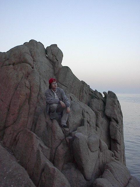 을왕리 해수욕장, 바닷가의 바위