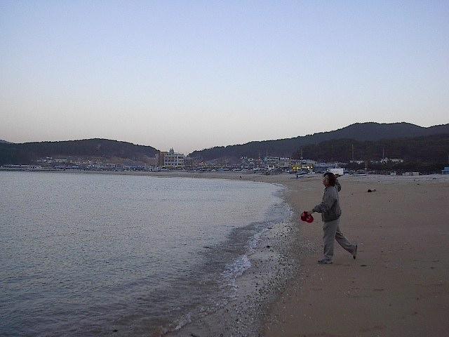 바다로 조개껍질을 던졌다!