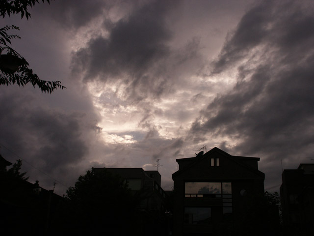 저녁 하늘에 구름~